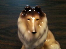 "COLLIE DOG Porcelain Ceramic Figurine Statute 5"" Tall Quality New Collectible"