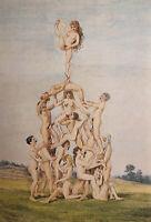 Victorian Era Erotik Group Sex Akt Nude Vagina Penis Breast Akrobatik Orgy 1880