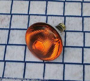 NEW 100 WATT AMBER orange 130v outdoor flood 100w LIGHT BULB PAR38 BR38 100BR38