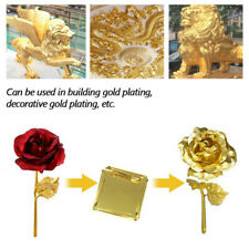 9x9cm 100Sheets K Pure Shiny Gold Leaf Gilding Funiture Lines Wall Crafts WS