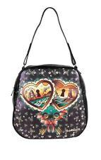 Lucky 13 Heart Locks Purse Shoulder Bag pin Up Girl TATTOO Retro Lolita Vegan