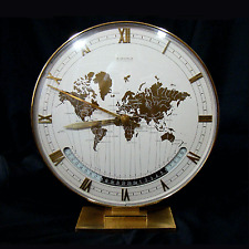 KIENZLE Weltzeit Uhr  Ø 26cm modernist Table World Time Zone Desk Clock 1960´s