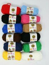 New! LION brand Acrylic 4 ply Yarn #4 Medium Lot Of 5 Skeins 325 Yards