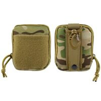 Tactical Pouch Mini Molle Storage Bag First Aid EDC Gear Case with Loop Panel