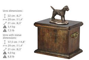 Border Terrier, Urne, Kalte Bronze, ArtDog, DE, Type 2