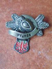 Vintage Walking Hat Pin Badge Pfunds Tyrol Hiking Alps Shield Souvenir