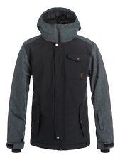 New Quiksilver Ridge Youth Snow Jacket - Black & Gray - Size 12/L