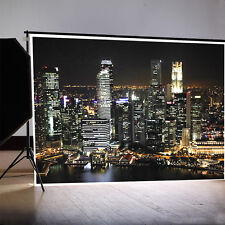 Modern City Night Photography Backgrounds 7x5ft Vinyl Studio Photo Backdrops