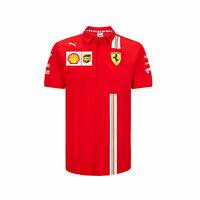 Mens Fanatics Scuderia Ferrari 2020 Team Sport Training Summer Top Tee T-Shirt