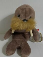 Ty Beanie Jolly Walrus w/ Tag Errors Plush Toy Rare Pvc New Retired