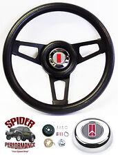 "69-77 Cutlass 442 F85 Omega steering wheel BLACK SPOKE 13 3/4"" Grant wheel"