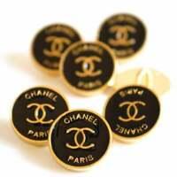 Chanel CC logo buttons LOT SETof 6 button vintage Ø 14 mm button