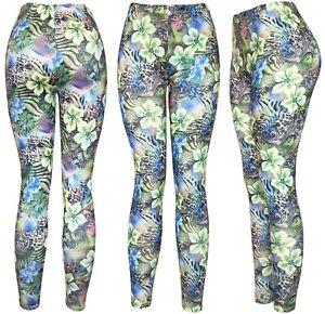 Women's REG/Plus Super Soft Cotton Blend Basic Workout Printed Pattern Leggings