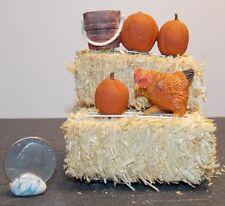 Dollhouse Miniature Farm Chicken Hay Bales Pumpkins D 1:12 H146 Dollys Gallery