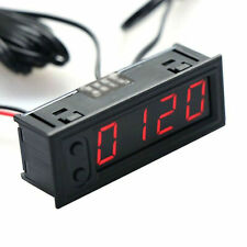 Digital LED Electronic 3 In 1 Time Clock Thermometer Voltmeter For 12V Car Auto