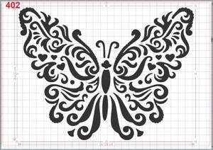 Butterfly Pattern Stencil MYLAR A4 sheet strong reusable wall art craft deco