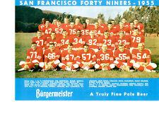 SAN FRANCISCO 49'ERS 8X10 TEAM PHOTOS LOT OF 4  1955 1956 1957 1958 FOOTBALL