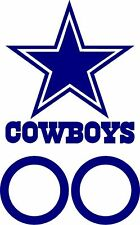 """12"""" (2) Dallas Cowboys Cornhole Decals with 6"""" (2) circles FREE WINDOW DECALS"""