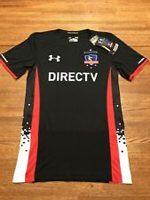 UNDER ARMOUR Chile Colo Colo Black White Red S/S Soccer Jersey NEW Mens Sz Small