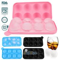4CM Round Ice Balls Maker Tray 8 Large Sphere Molds Bar Cube Whiskey Cocktails