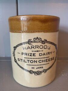 Bourne Denby Harrods Salt glaze  Stoneware Prize Dairy Stilton Cheese Jar