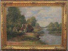 Van Velde Signed Oil on Canvas - Late 19th/Early 20th Century in Ornate Frame