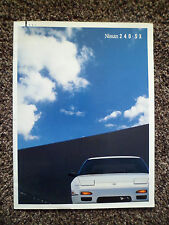 Nissan 240SX US Market Brochure 1991 26 Pages Includes Coupe & Fastback Models