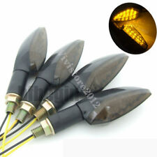 4x 15 LED Motorcycle Smoked Turn Signal Indicator Blinker Amber Light For Harley