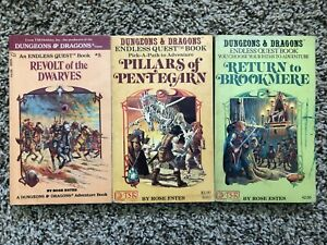 Dungeons and Dragons Endless Quest Book Lot, 3 Titles