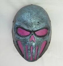 Paintball Airsoft Wire Mesh Full Face Protection Skull Mask Prop Halloween M134