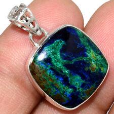 Azurite In Malachite - Morenci Mines 925 Silver Pendant Jewelry AP211552