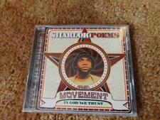 Sharlok Poems CD Movement In God We Trust New Hip Hop Rap