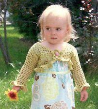 Crochet Shrug - Weezie Wear Designs Crochet Pattern for Babies & Girls NB-8yrs
