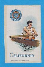 c1910s S22 tobacco silk UNIVERSITY OF CALIFORNIA Rower ( Crewe ) Nice!!!