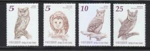 REP. OF CHINA TAIWAN 2013 OWLS OF TAIWAN COMP. SET OF 4 STAMPS IN MINT MNH