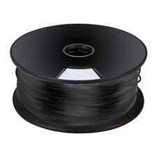 3mm filamento PLA PER STAMPANTI 3D NERO elemento FIBRA FILO Spool (per 5 Mtrs)