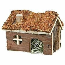Trixie Wooden Small Hamster Mouse House With Hay & Carrot