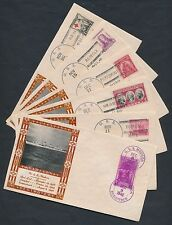 U.S.S. MADISON (DESTROYER) ON 8 DIFFERENT 1940 LOUIS WEIGAND COVERS BR9900
