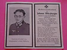SOLDATEN STERBEBILD / DEATH CARD WK II - JOHANN WÜRZBURGER - SCHROBENHAUSEN+1941