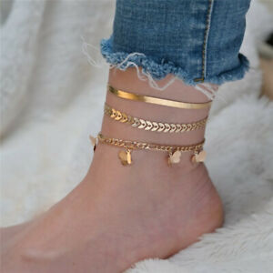 New Women Fashion Gold Color  Anklet Foot Chain Bracelet Beach Jewelry  Gifts