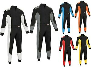 Kart Race Motocross suits overall Poly Cotton One Piece Karting Racing Suit New