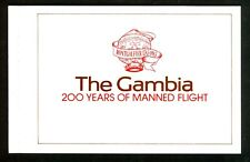 Gambia, Postage Stamp, 493-497 Booklet Mint NH, 1983 Airplane, Space Complete