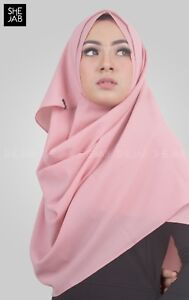 Peach Instant Hijab Scarf Khimar One Piece Abaya Jilbab Al Amira Hijab