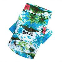 Hawaiian Style Print Cotton Pet Clothes Dog Puppy Spring Summer Casual Vest N#S7
