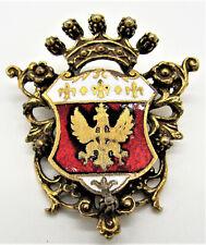 Eagle & Fleur De Lis Coro Crown & Crest Pin Enamel