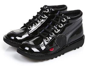 Kickers Kick Hi Patent Boot - UK 12.5 - UK 6 - Best Price and Free UK Delivery