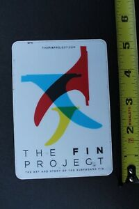 The Fin Project Surfboard Fins Twin Single Thruster V32A Vintage Surfing STICKER