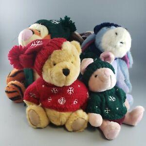 Boyds Bears Disney Store Pooh Eeyore Tigger Piglet Stuffed Animals Set of 4