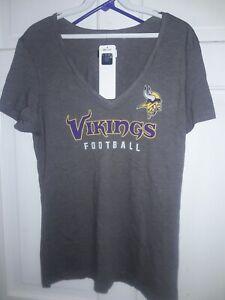 Minnesota Vikings NFL team apparel football T-Shirt athletic fan gear - Lady L -