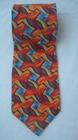 J. Garcia Tie Mesa Collection Seven Abstract Design 100% Silk Made in U.S.A.